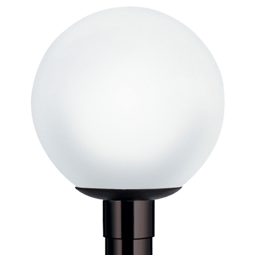 Wave Lighting Wave Lighting Marlex Globe & Acorns Black Post Light 8002-G32