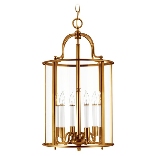 Hinkley Lighting Hinkley Lighting Gentry Heirloom Brass Pendant Light with Conical Shade 3478HR