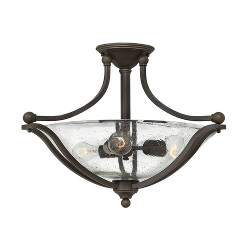 Hinkley Lighting Hinkley Lighting Bolla Olde Bronze Semi-Flushmount Light 4669OB-CL