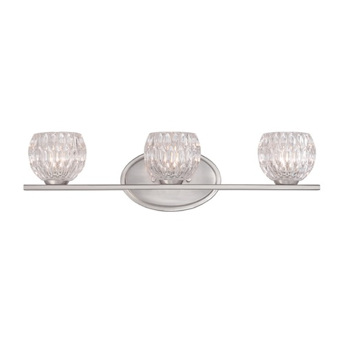 Designers Fountain Lighting Designers Fountain Odessa Satin Platinum Bathroom Light 67903-SP