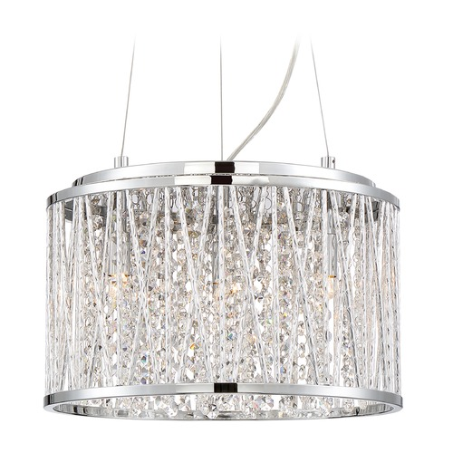 Quoizel Lighting Quoizel Lighting Platinum Collection Crystal Cove Polished Chrome Pendant Light PCCC1814C