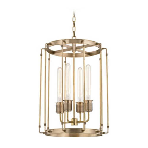 Hudson Valley Lighting Hudson Valley Lighting Hyde Park Aged Brass Pendant Light 9716-AGB