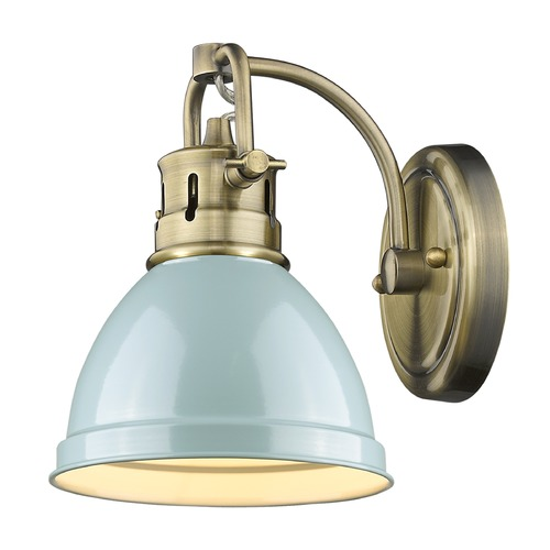 Golden Lighting Golden Lighting Duncan Ab Aged Brass Sconce 3602-BA1 AB-SF