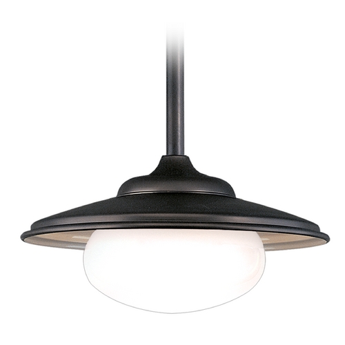 Hudson Valley Lighting Pendant Light with White Glass in Old Bronze Finish 9111-OB