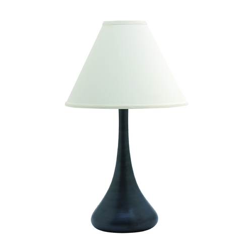 House of Troy Lighting Table Lamp with White Shade in Black Matte Finish GS801-BM