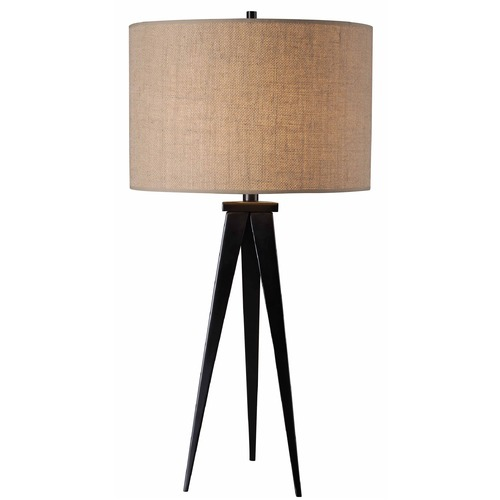 Kenroy Home Lighting Modern Table Lamp with Brown Shade in Oil Rubbed Bronze Finish 32262ORB