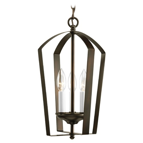 Progress Lighting Progress Lantern Pendant Light in Bronze Finish P3928-20
