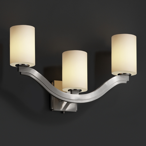 Justice Design Group Justice Design Group Fusion Collection Bathroom Light FSN-8976-10-OPAL-NCKL