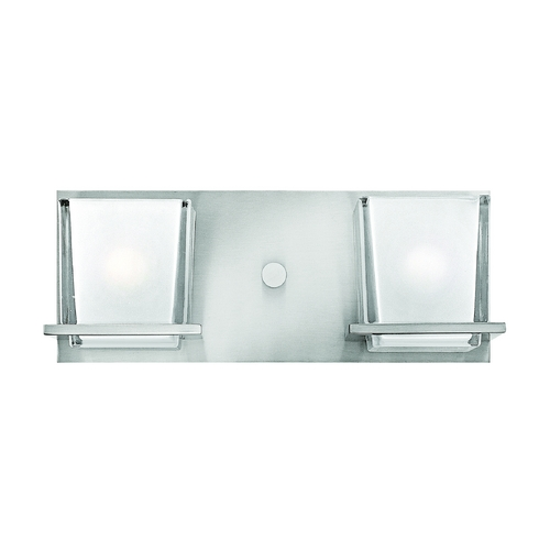 Hinkley Lighting Bathroom Light with White Glass in Brushed Nickel Finish 5772BN