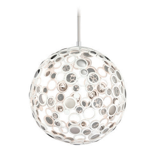Corbett Lighting Corbett Lighting Fathom White LED Pendant Light with Globe Shade 187-42