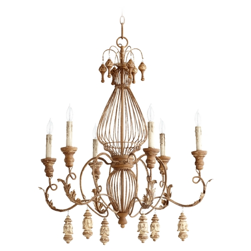 Quorum Lighting Quorum Lighting Salento French Umber Chandelier 6306-6-94