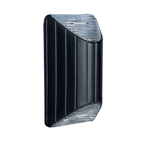 Besa Lighting Ribbed Glass Outdoor Wall Light Black Costaluz by Besa Lighting 308357