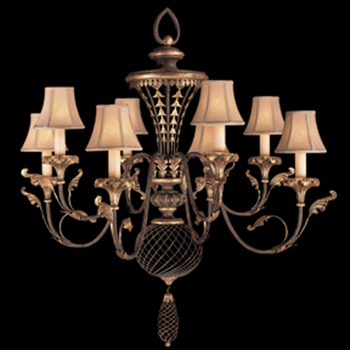 Fine Art Lamps Fine Art Lamps Villa 1919 Umber with Gilded Accents Chandelier 156140ST
