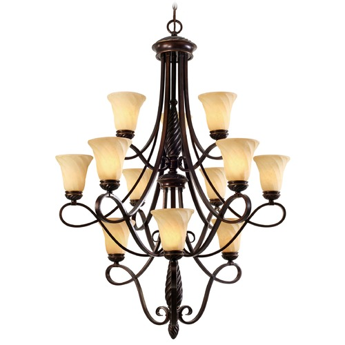 Golden Lighting Golden Lighting Torbellino Cordoban Bronze Chandelier 8106-363 CDB