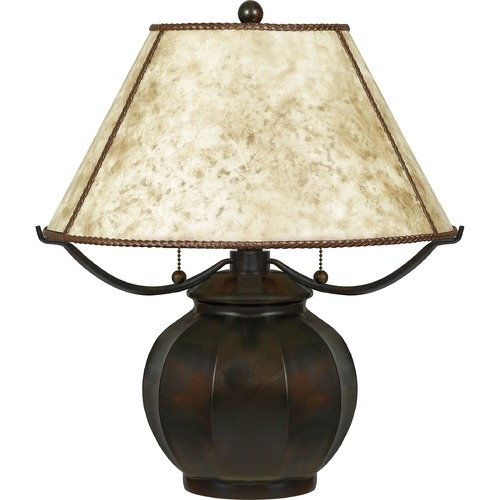 Quoizel Lighting Quoizel Lighting Mica Valiant Bronze Table Lamp with Empire Shade MC5207TVA