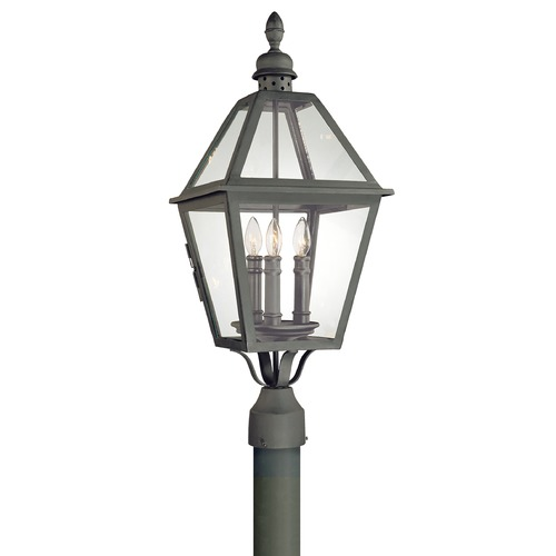 Troy Lighting Post Light with Clear Glass in Natural Bronze Finish P9625NB