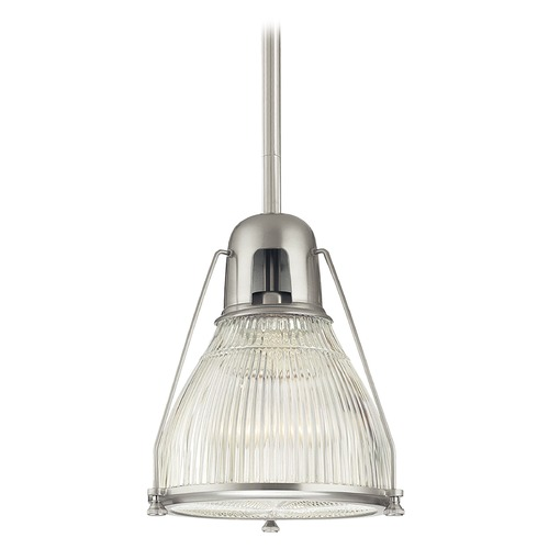Hudson Valley Lighting Haverhill Satin Nickel Pendant Light with Bowl Shade 7311-SN