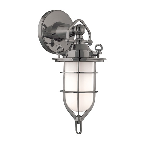 Hudson Valley Lighting Sconce with White Glass in Antique Nickel Finish 6501-AN