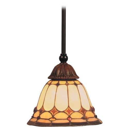 Elk Lighting Mini-Pendant Light with Multi-Color Glass 648-BC