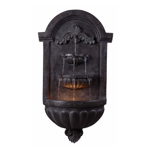 Kenroy Home Lighting LED Outdoor Fountain in Plum Bronze Finish 50024PLBZ