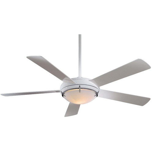 Minka Aire 54-Inch Ceiling Fan with Five Blades and Light Kit F603-WH