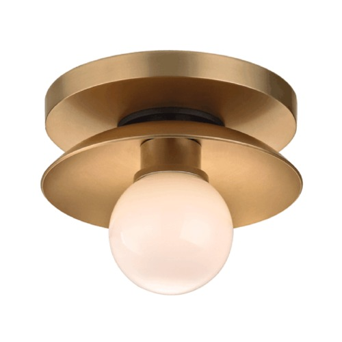 Hudson Valley Lighting Hudson Valley Lighting Julien Aged Brass Semi-Flushmount Light 9801-AGB