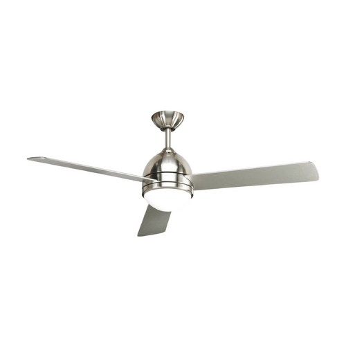 Progress Lighting Progress Modern Ceiling Fan with Light with White Glass P2514-09