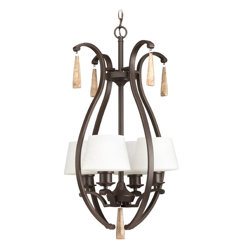 Progress Lighting Progress Lighting Club Antique Bronze Pendant Light with Empire Shade P3626-20