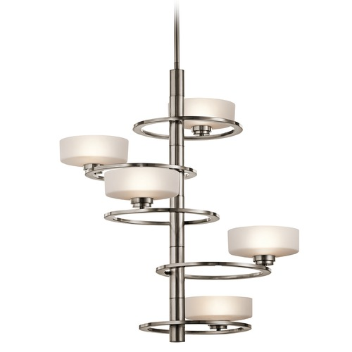 Kichler Lighting Kichler Lighting Aleeka Classic Pewter Pendant Light with Drum Shade 43366CLP