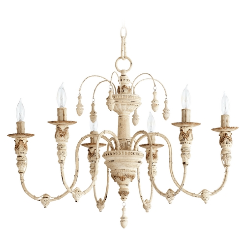 Quorum Lighting Quorum Lighting Salento Persian White Chandelier 6316-6-70