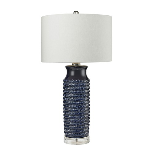 Dimond Lighting Dimond Lighting Navy Blue Table Lamp with Drum Shade D2594