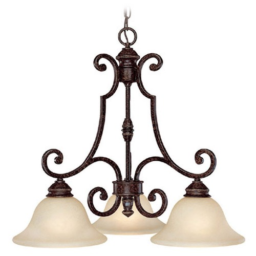 Capital Lighting Capital Lighting Barclay Chesterfield Brown Chandelier 3583CB-259