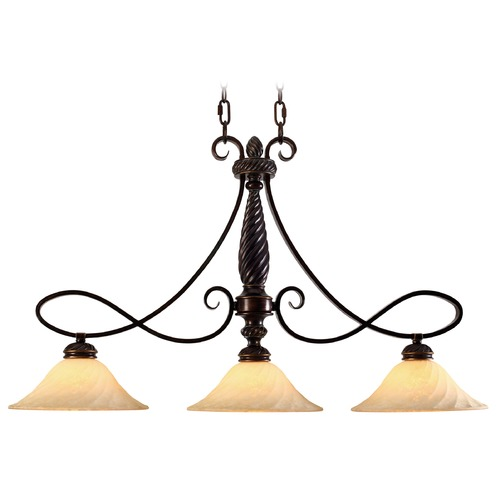 Golden Lighting Golden Lighting Torbellino Cordoban Bronze Island Light 8106-10 CDB