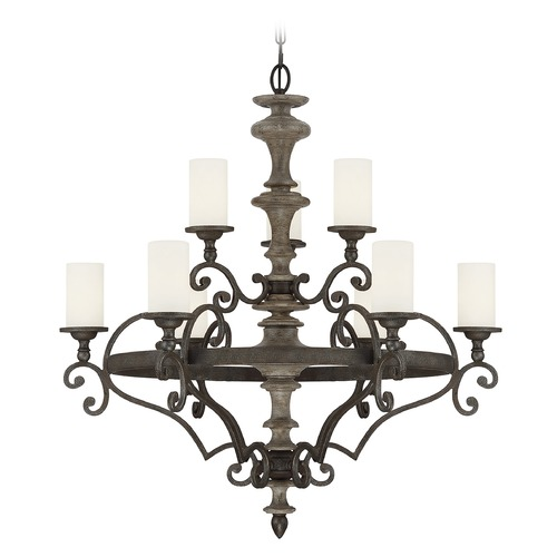 Savoy House Savoy House Lighting Strathmore Century Bronze Chandelier 1-742-9-09