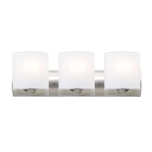 Besa Lighting Besa Lighting Celtic Satin Nickel Bathroom Light 3WZ-CELTICCL-SN