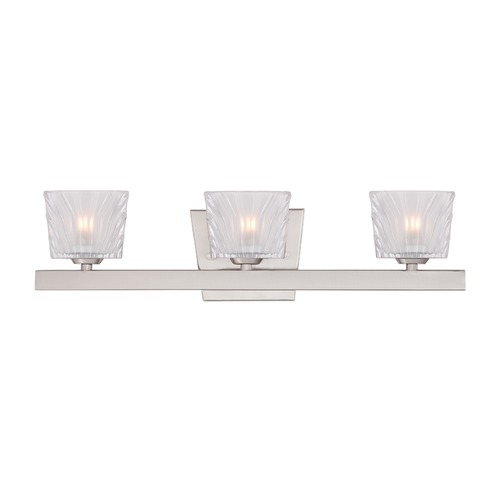 Designers Fountain Lighting Designers Fountain Volare Satin Platinum Bathroom Light 68103-SP