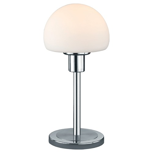 Arnsberg Arnsberg Wilhelm Nickel Matte LED Console & Buffet Lamp with Mushroom Shade 529210107