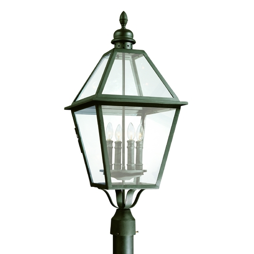 Troy Lighting Post Light with Clear Glass in Natural Bronze Finish P9626NB