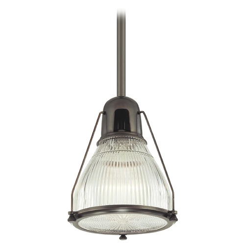 Hudson Valley Lighting Modern Pendant Light with Clear Glass in Old Bronze Finish 7315-OB
