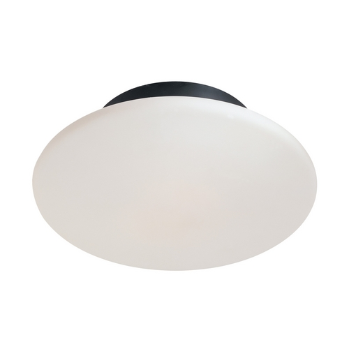 Sonneman Lighting Modern Flushmount Light with White Glass in Satin Black Finish 4156.25