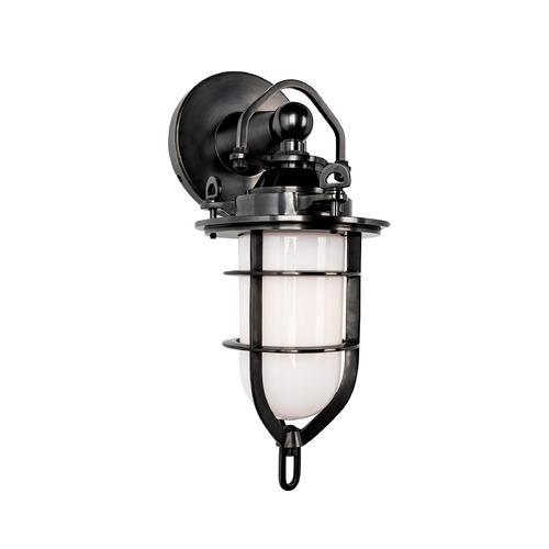 Hudson Valley Lighting Sconce with White Glass in Old Bronze Finish 6501-OB