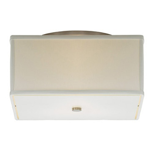 Tech Lighting Modern Semi-Flushmount Light with White Shades in Satin Nickel Finish 700TDCHAFMSWS-CF