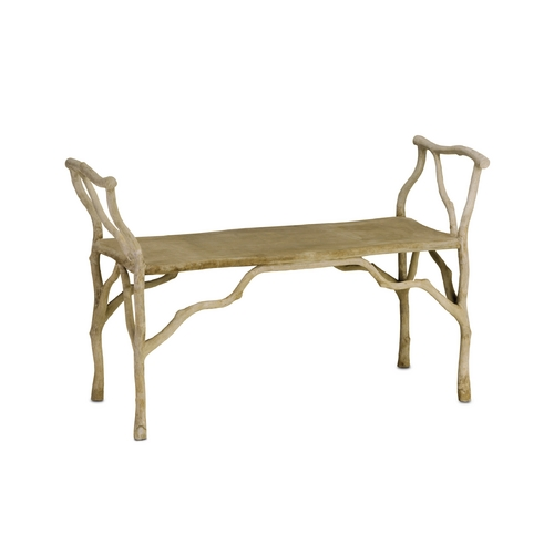 Currey and Company Lighting Bench in Portland Finish 2787