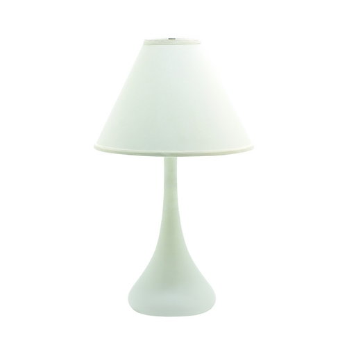 House of Troy Lighting Table Lamp with White Shade in White Matte Finish GS801-WM