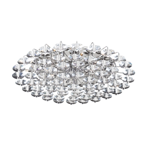 PLC Lighting Modern Flushmount Light in Polished Chrome Finish 96983 PC