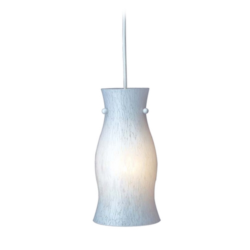 PLC Lighting Modern Mini-Pendant Light with White Glass 1500 WH