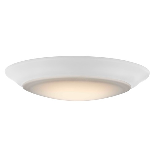 Design Classics Lighting 6-Inch LED Low Profile White Flush Mount Light 3000K 1000LM DFR615-H-930-WH  3000K 90CRI 1000LM