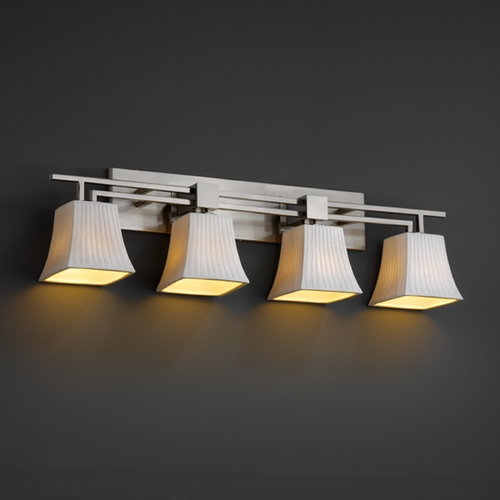 Justice Design Group Justice Design Group Limoges Collection Bathroom Light POR-8704-40-WFAL-NCKL