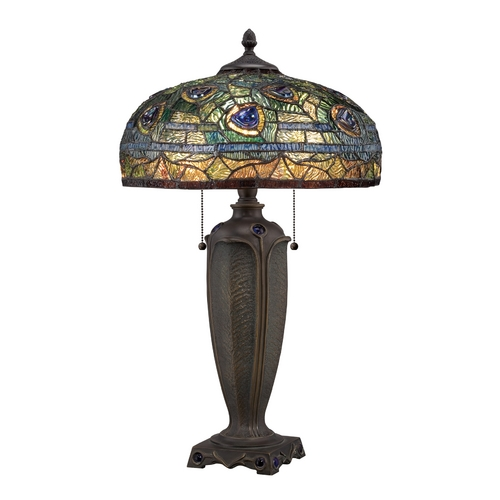 Quoizel Lighting Table Lamp with Multi-Color Glass TF1487T