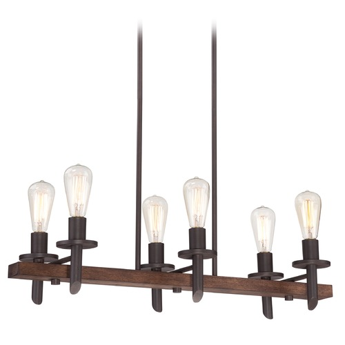Quoizel Lighting Island Light in Darkest Bronze Finish TVN232DK